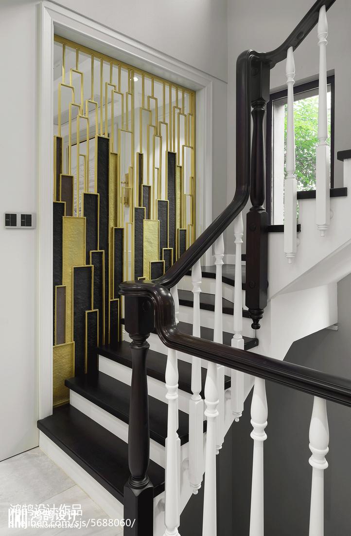 450平美式樓梯設計圖