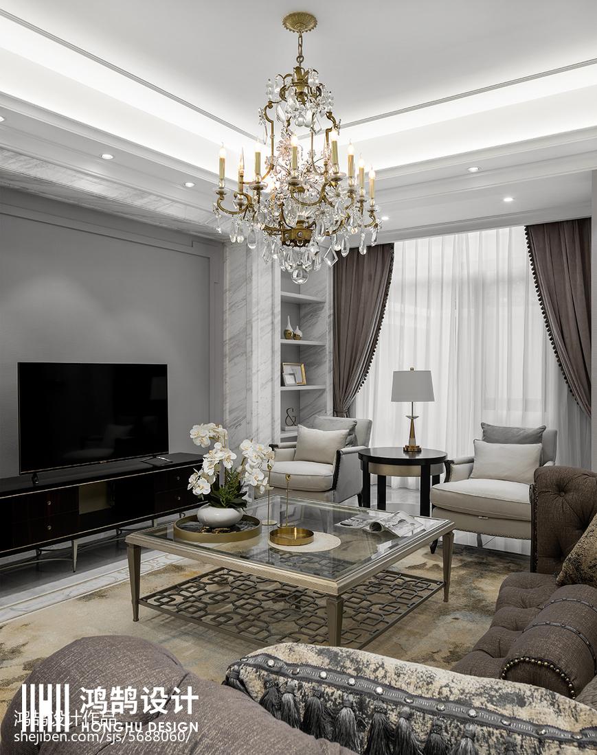 面积132平别墅客厅美式装修图片