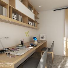 精美面积79平小户型书房简约装饰图片欣赏