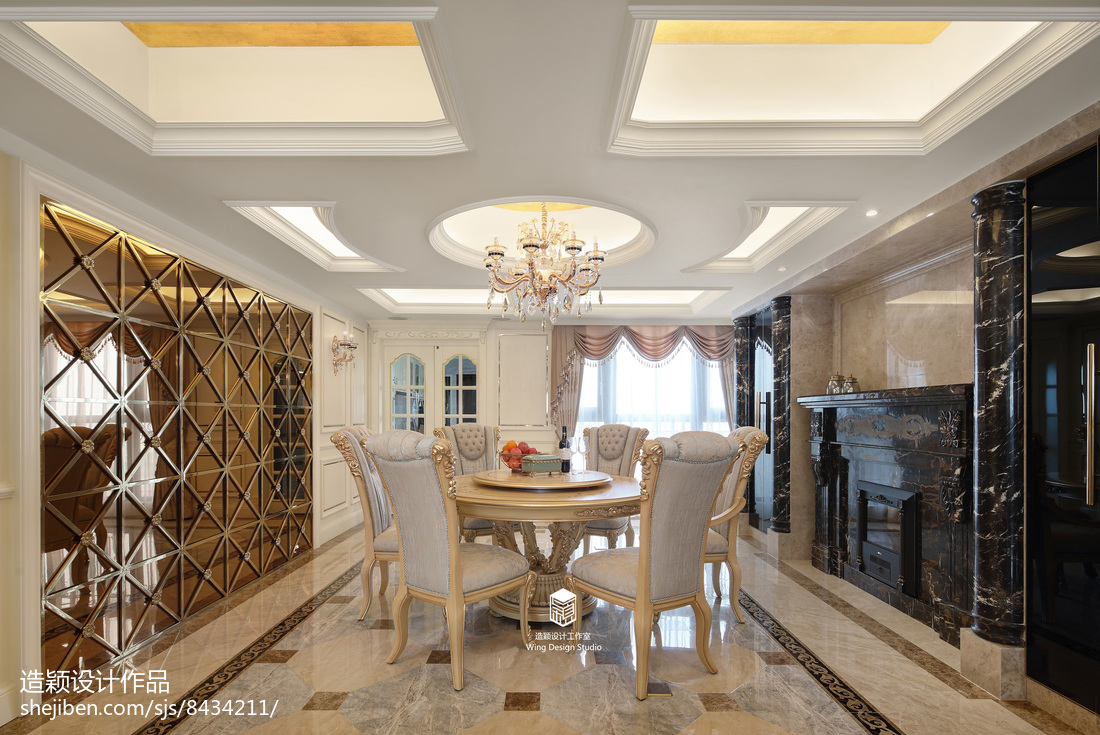 精美面积123平欧式四居餐厅欣赏图片大全