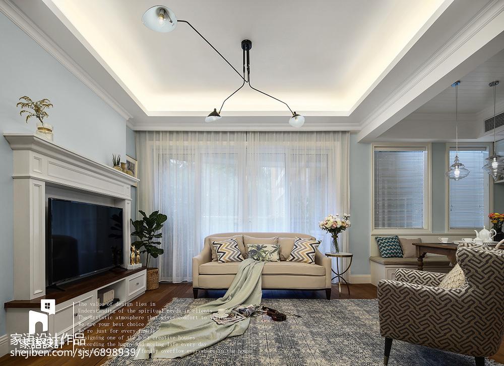 质朴112平美式三居客厅美图