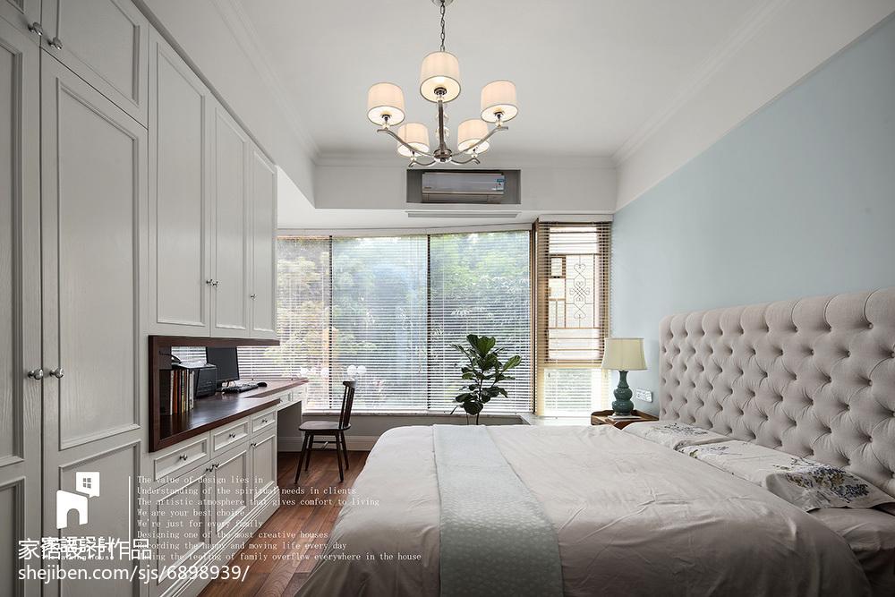 优美98平美式三居装修图片