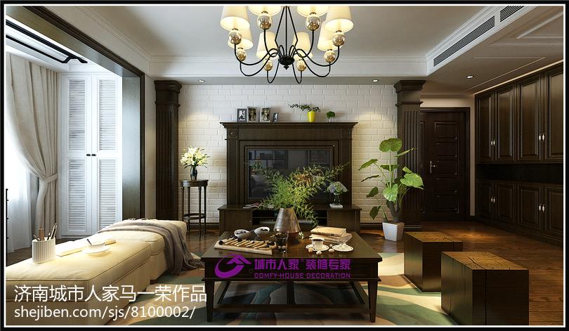 美式风格餐厅室内设计装修效果图