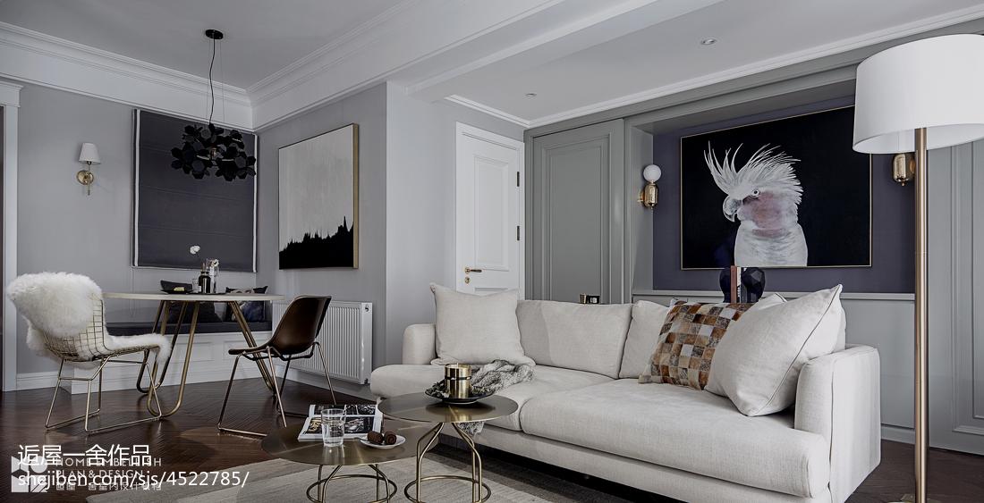 温馨64平美式二居客厅效果图欣赏