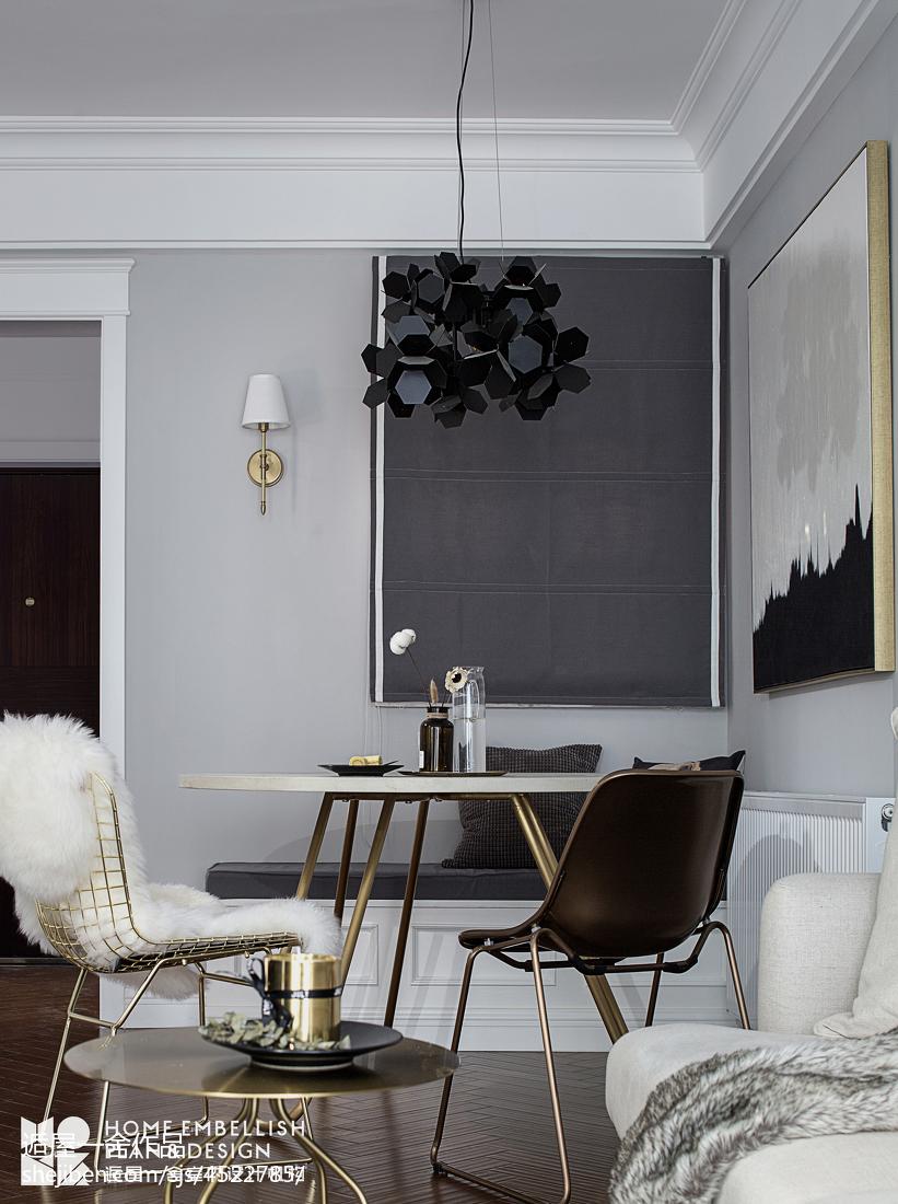 典雅66平美式二居餐厅装修案例
