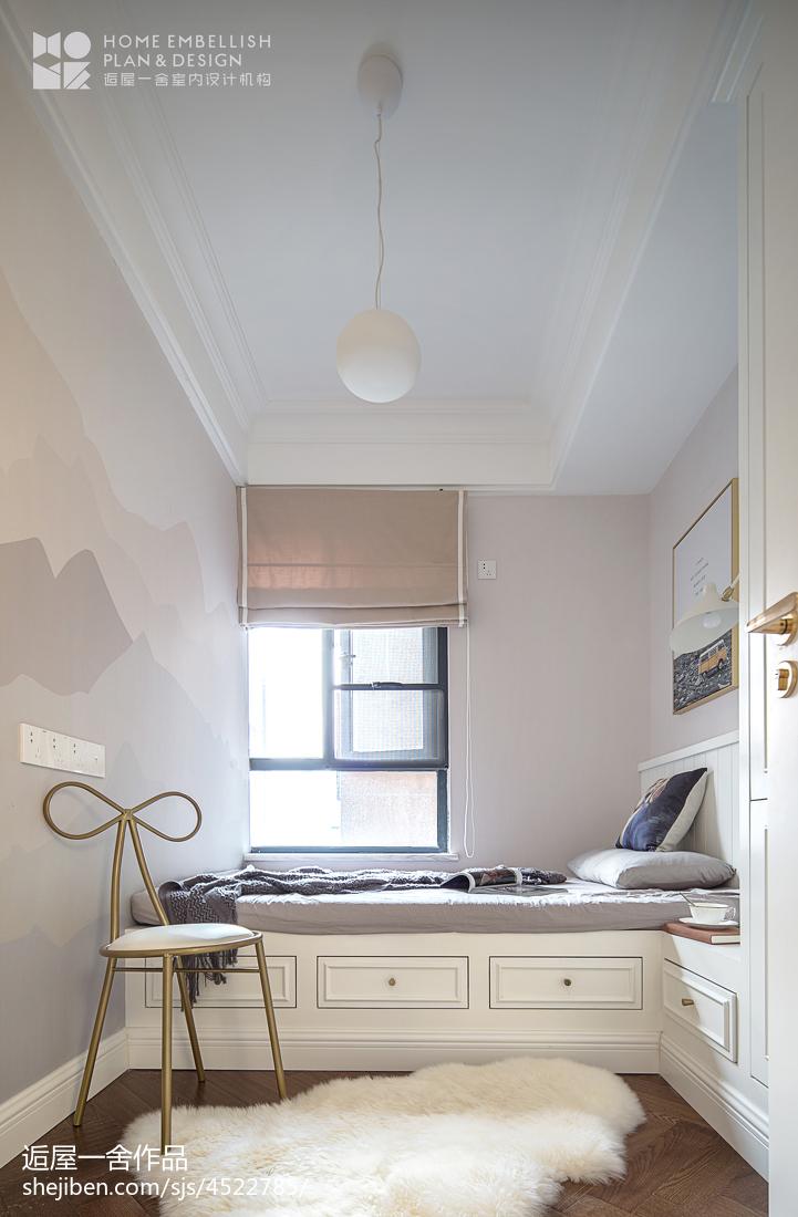 明亮57平美式二居卫生间装修装饰图