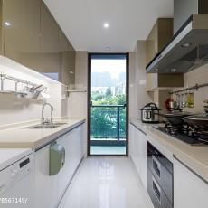 优美104平美式四居厨房装潢图