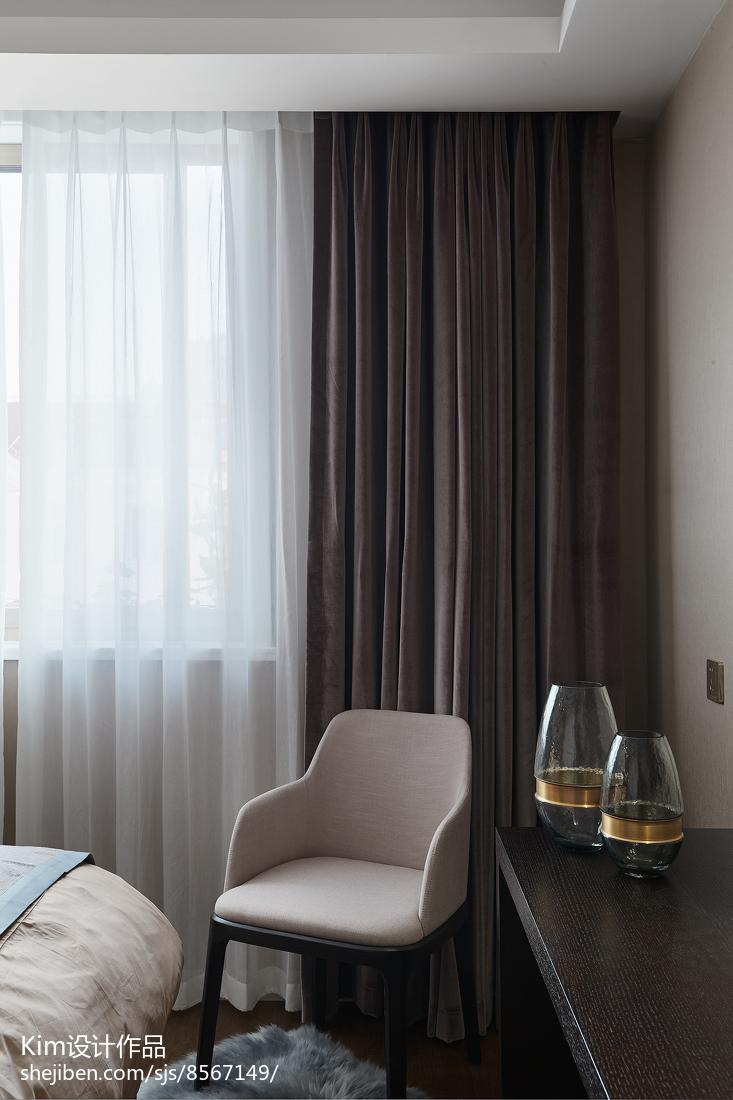 2018精选128平米四居卧室现代装修设计效果图