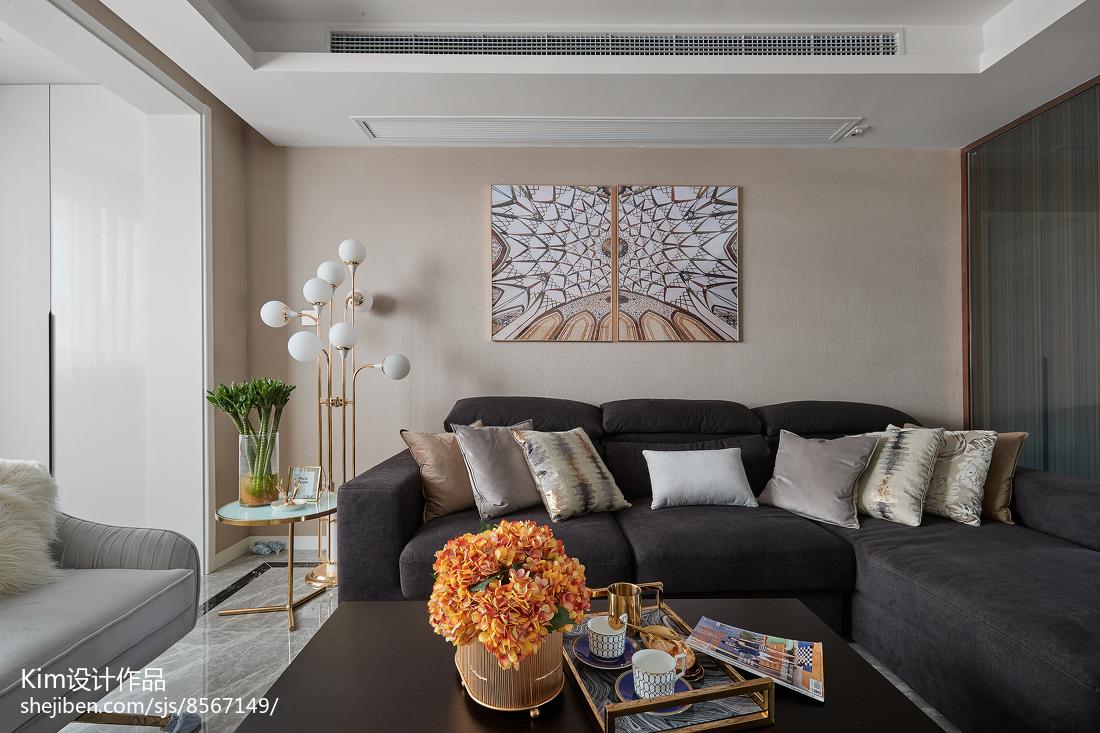 2018110平米四居客厅现代效果图片