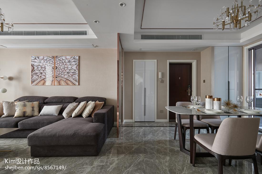精选114平米四居客厅现代效果图