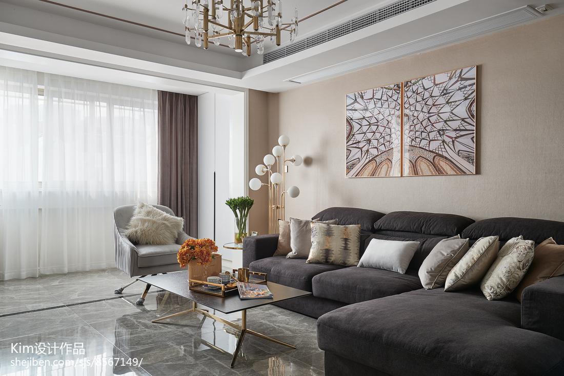 2018精选136平米四居客厅现代设计效果图