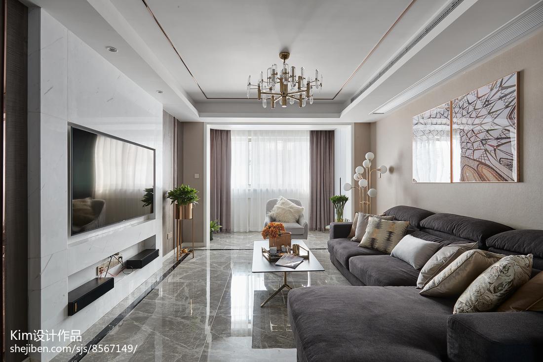 111平方四居客厅现代装修设计效果图