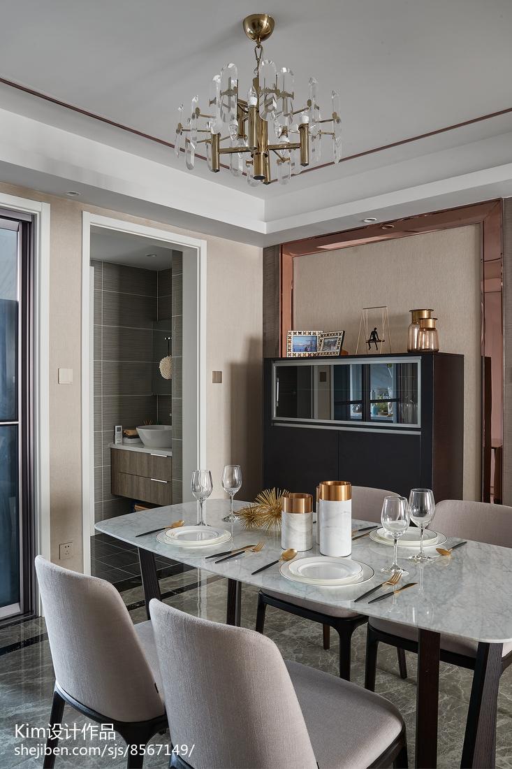 精美面积122平现代四居餐厅欣赏图