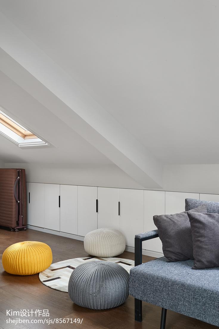 简洁123平现代四居休闲区装饰图片