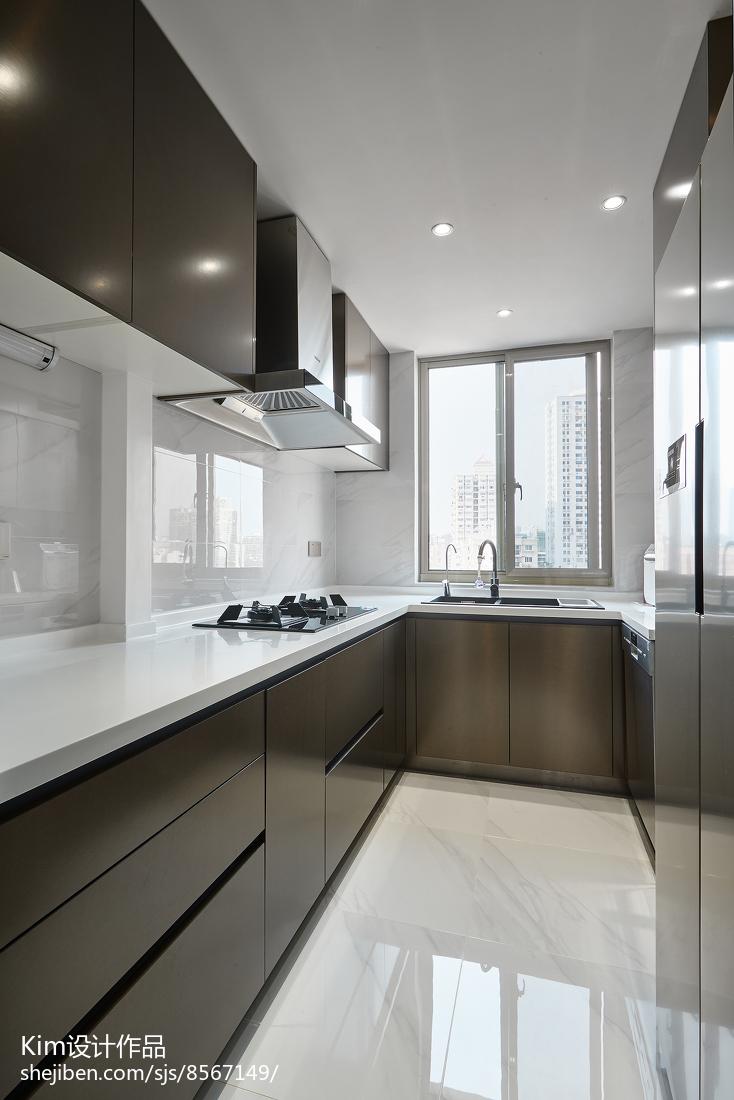 轻奢现代四居厨房设计图