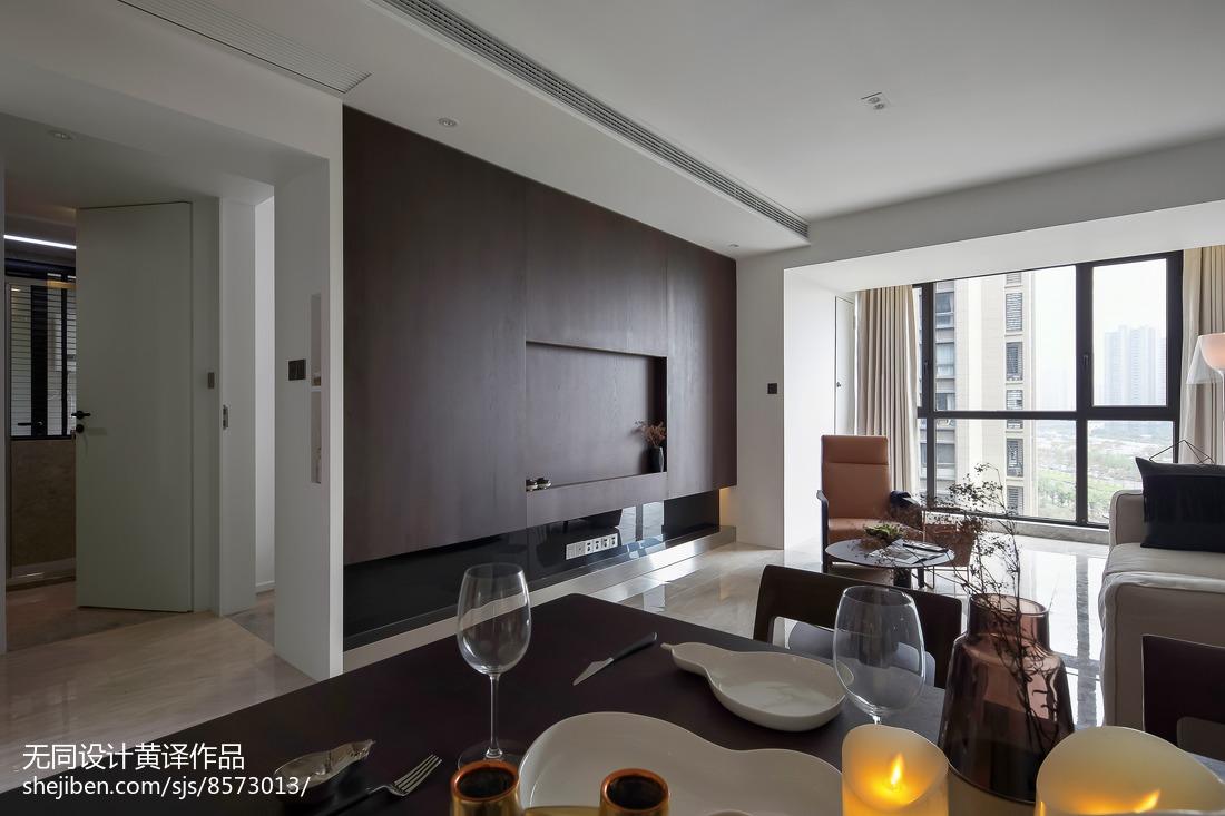 精美91平米三居客厅简约装修效果图片