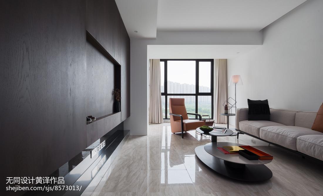 面积106平简约三居客厅装修图片