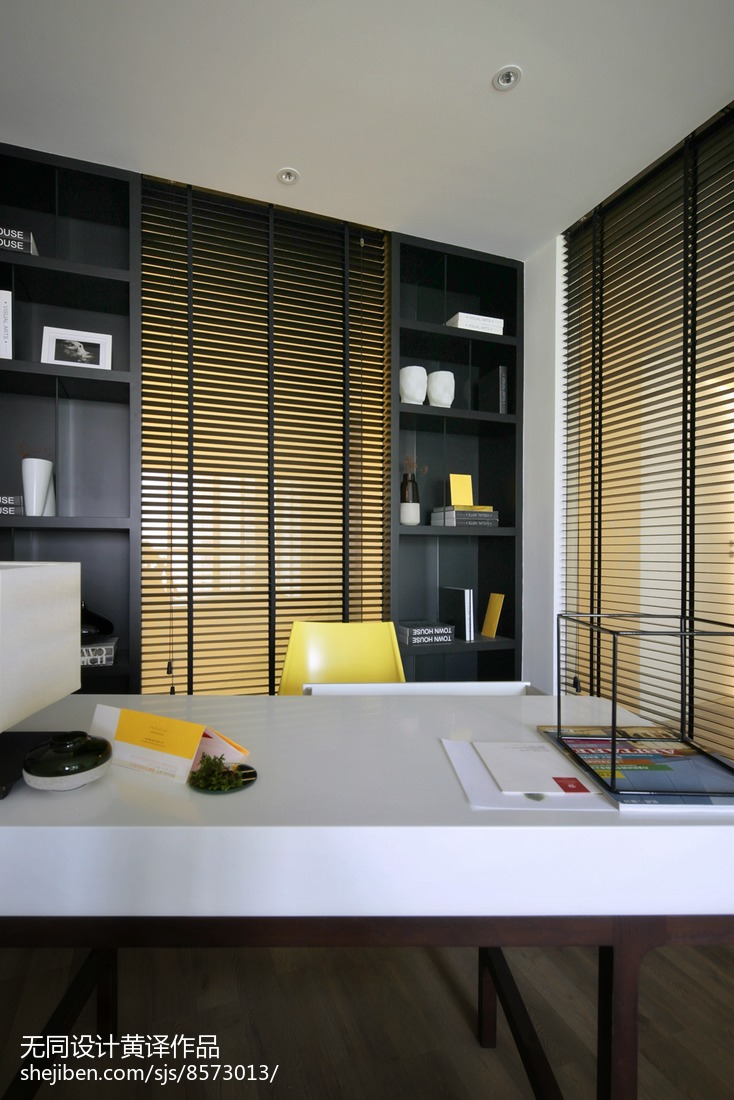 精选简约三居书房装修设计效果图片大全