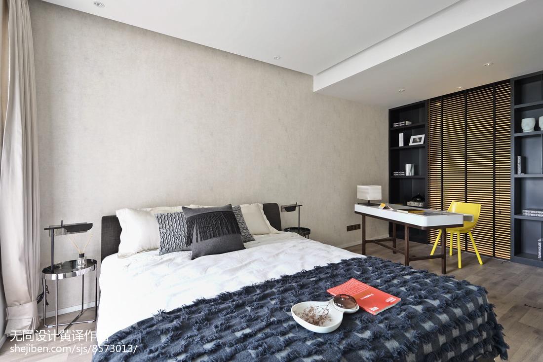 面积104平简约三居卧室装修实景图片大全