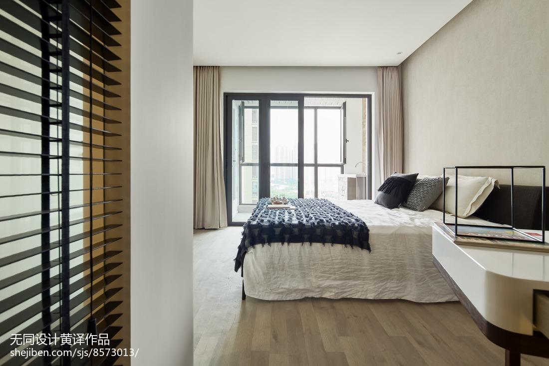 精选面积90平简约三居卧室装修效果图片
