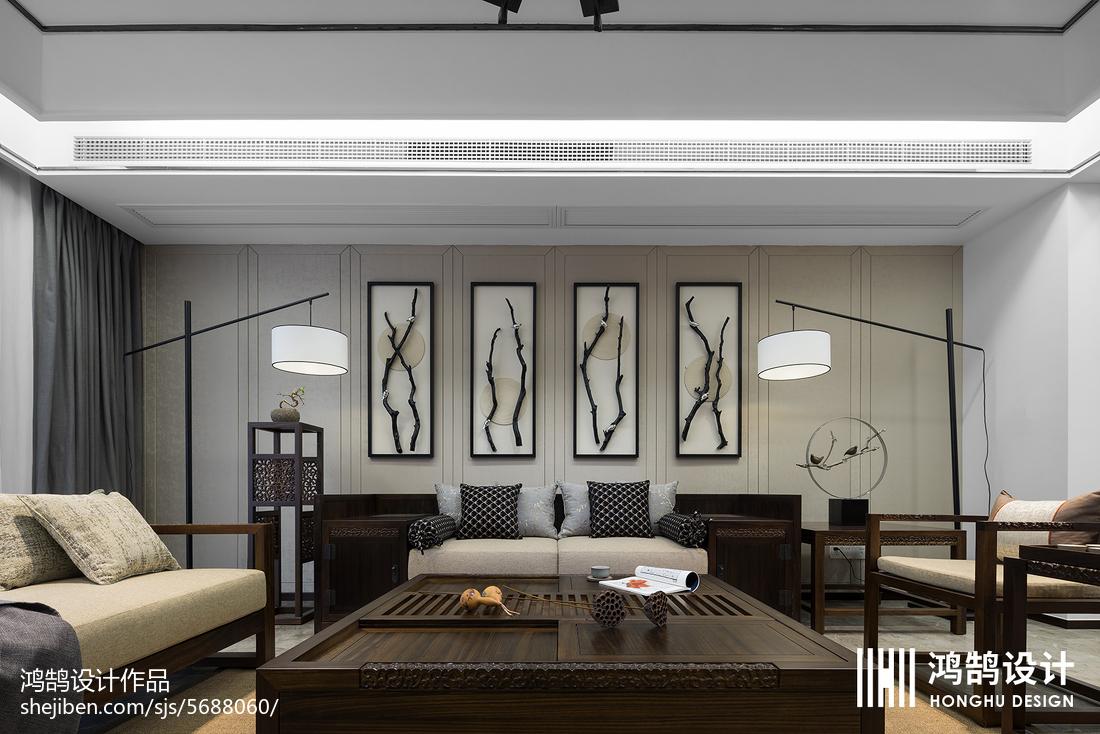 2018精选104平米三居客厅中式装饰图