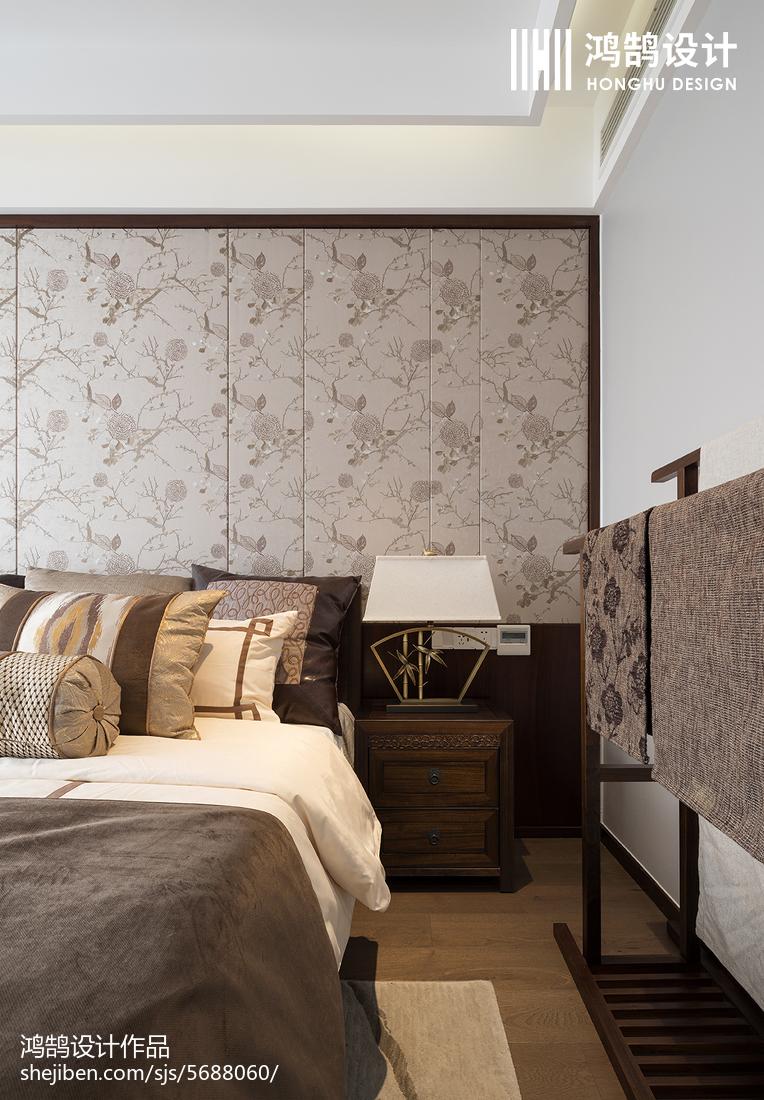 优雅92平中式三居卧室图片大全