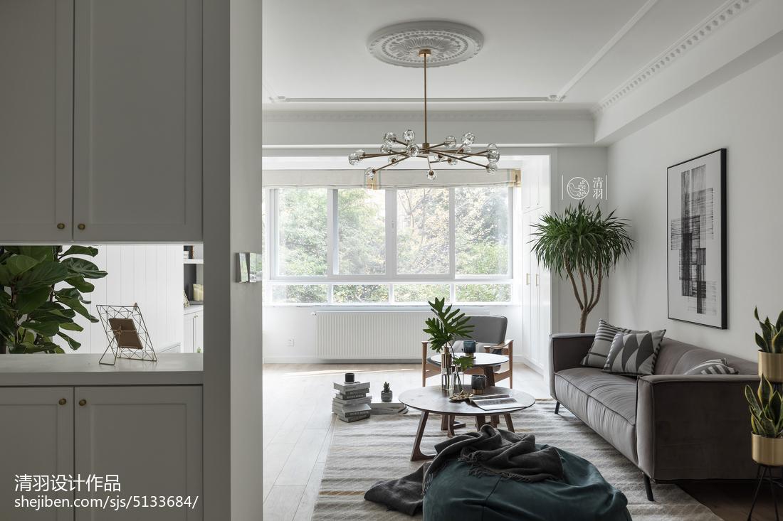 2018三居客厅北欧装修设计效果图片欣赏