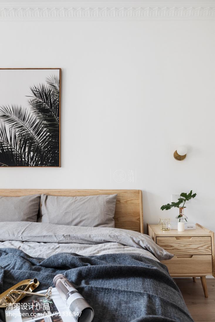 大气74平北欧三居卧室装饰图