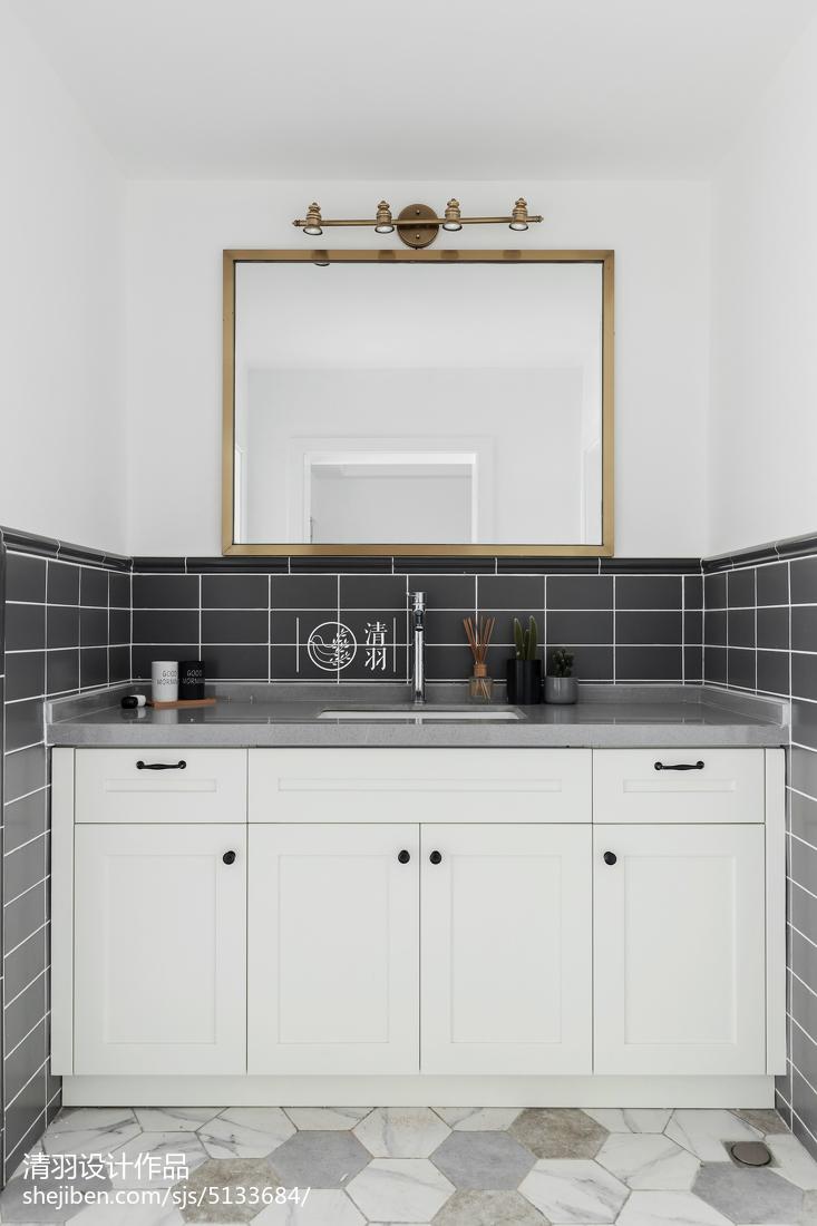 2018精选三居卫生间北欧装修设计效果图片大全