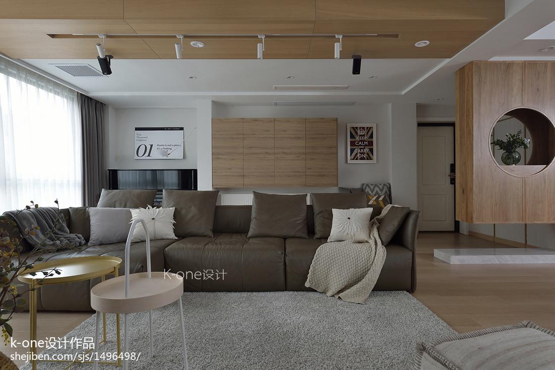 精美日式复式客厅装修效果图片欣赏