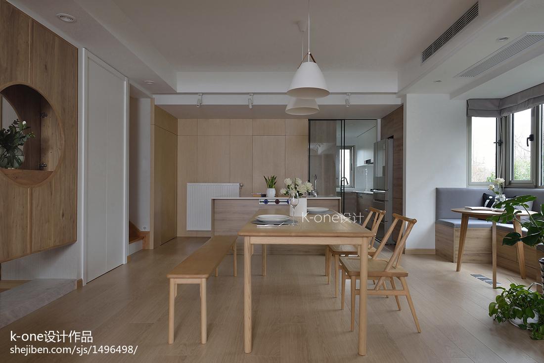 精选134平米日式复式餐厅装修图