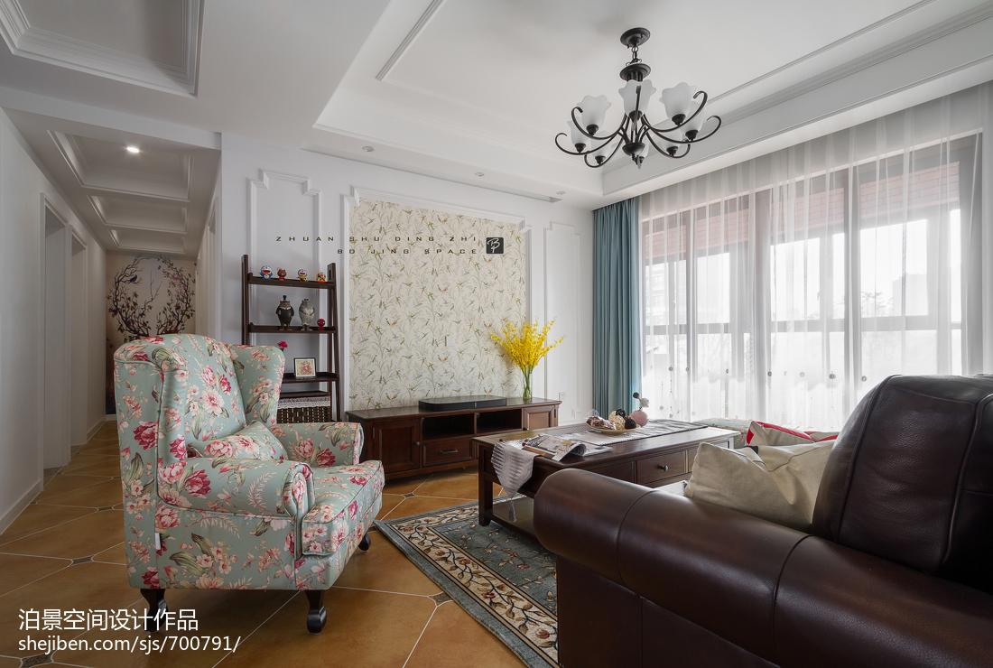 精选109平方三居客厅美式装修实景图