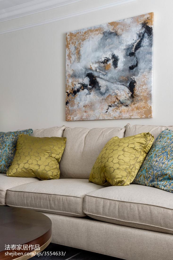 热门98平米三居客厅美式装饰图片