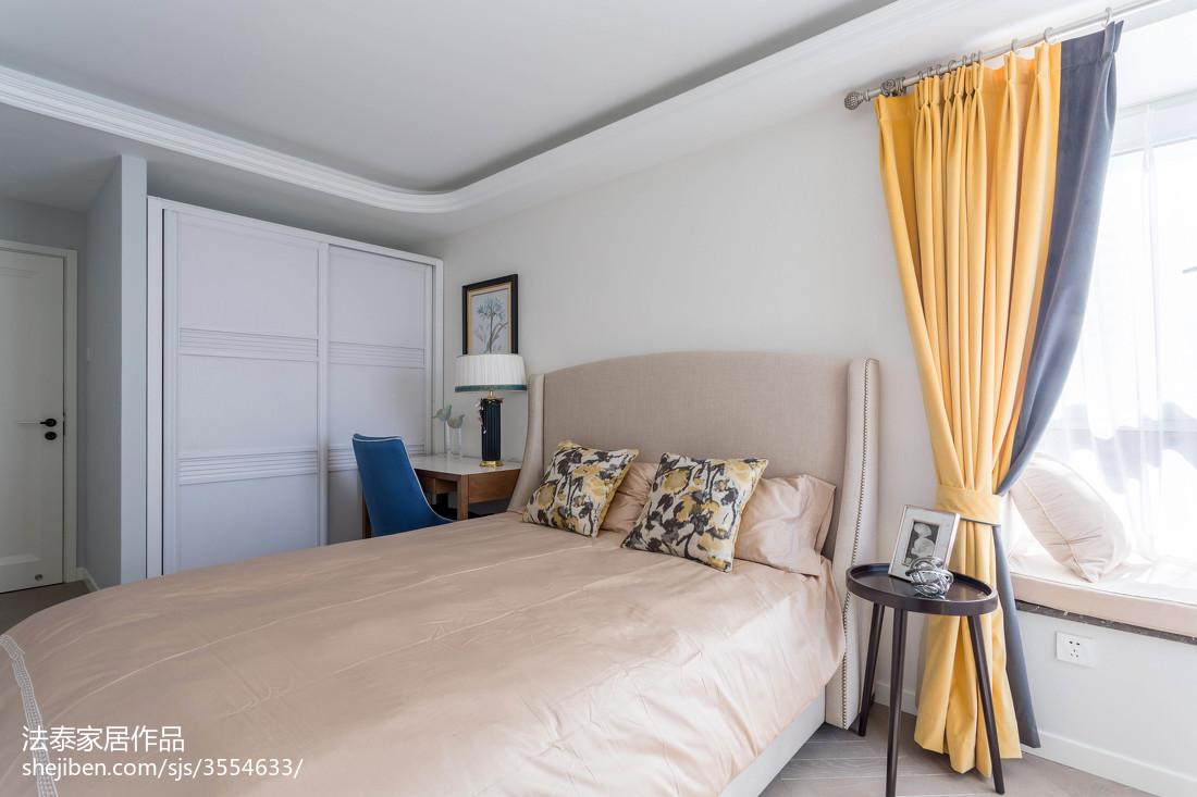 2018106平米三居卧室美式效果图