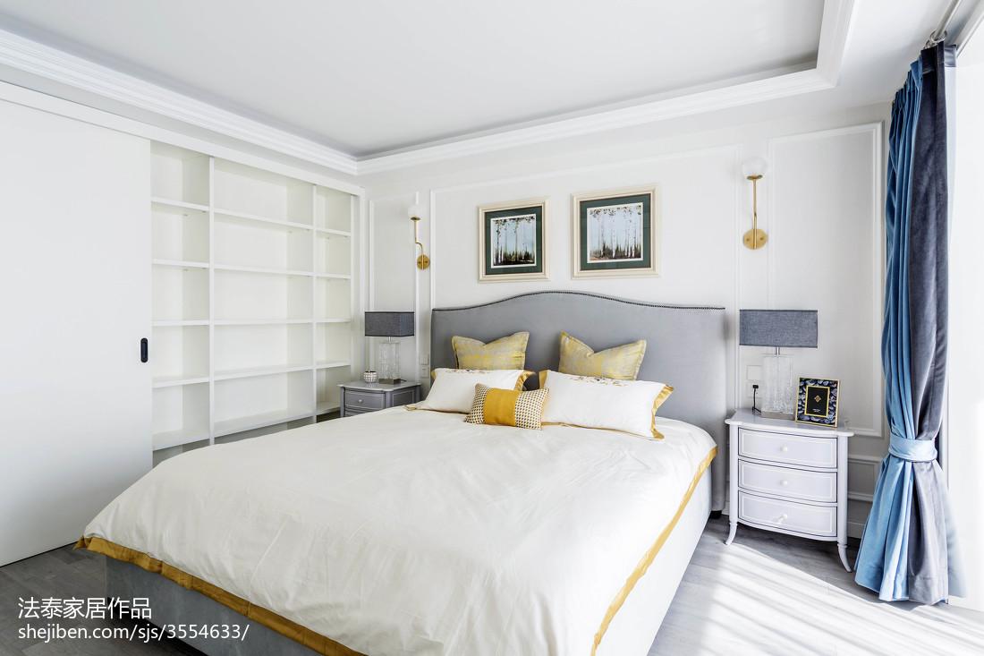 2018面积109平美式三居卧室装修图片大全