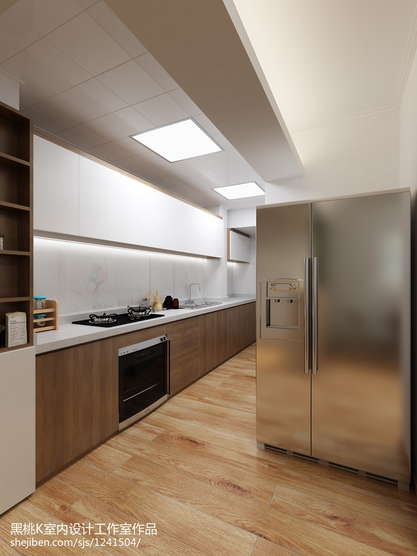 热门90平米二居厨房北欧欣赏图片