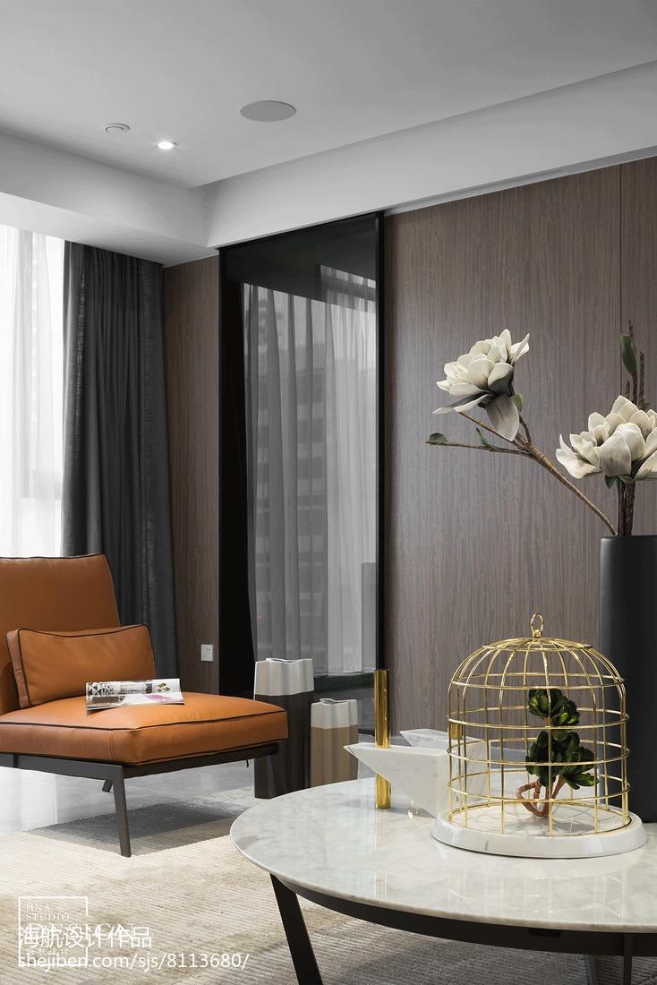 热门85平米二居客厅现代装修效果图片欣赏