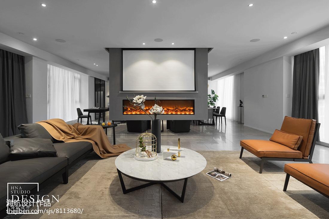 面积84平现代二居客厅装修效果图