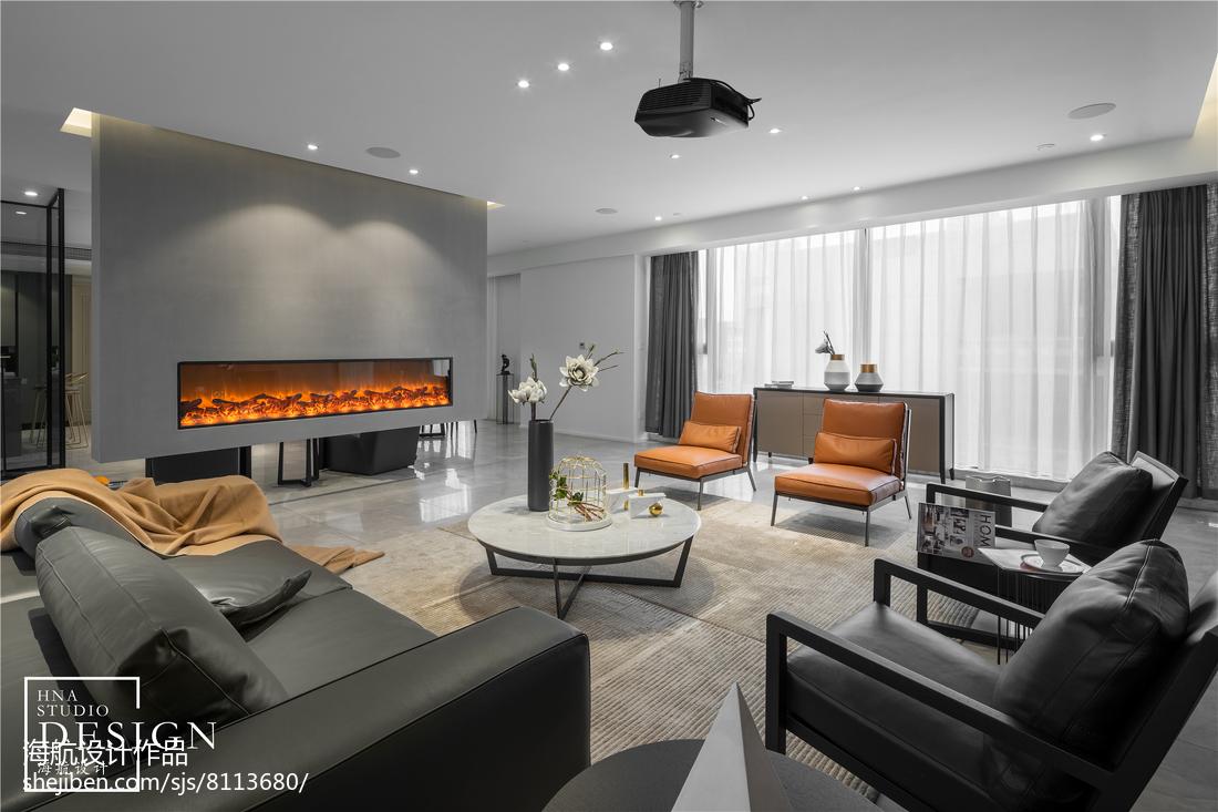 2018大小90平现代二居客厅装修实景图片大全