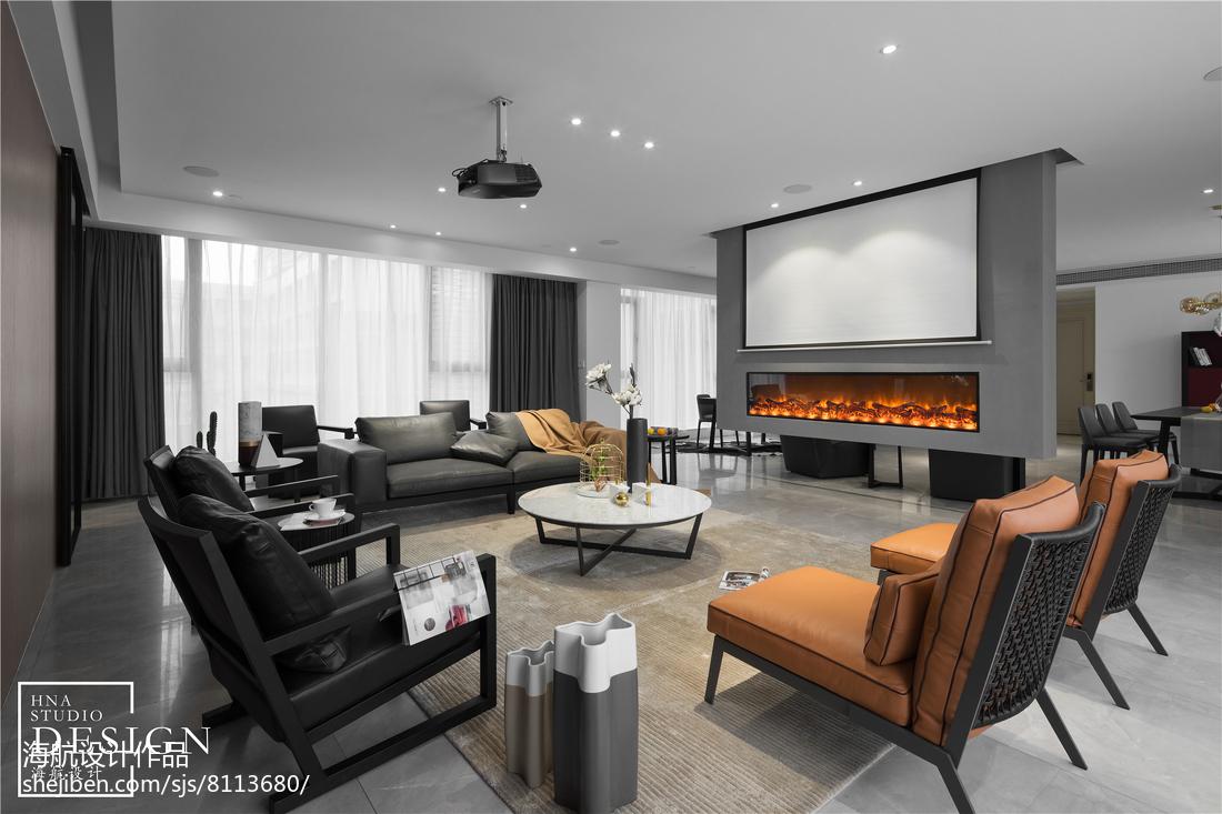 201877平方二居客厅现代装修图片大全