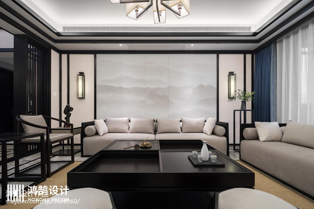 101平米三居客厅中式设计效果图