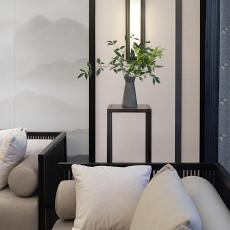 2018精选面积109平中式三居客厅实景图