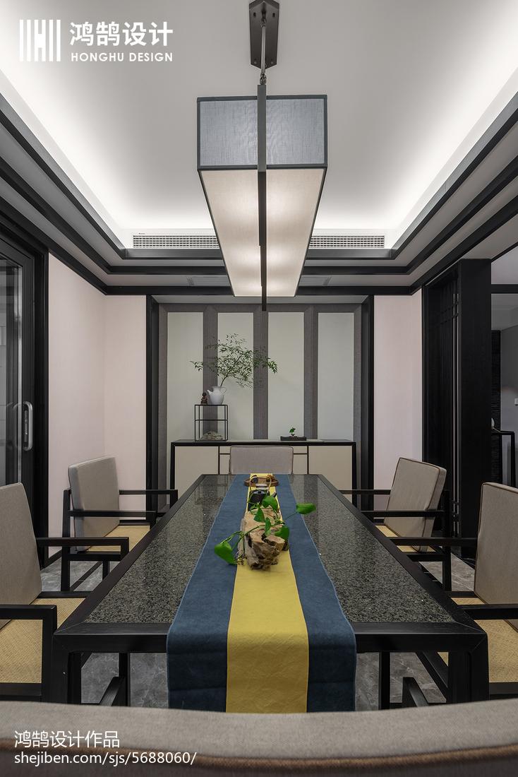 2018面积105平中式三居餐厅效果图