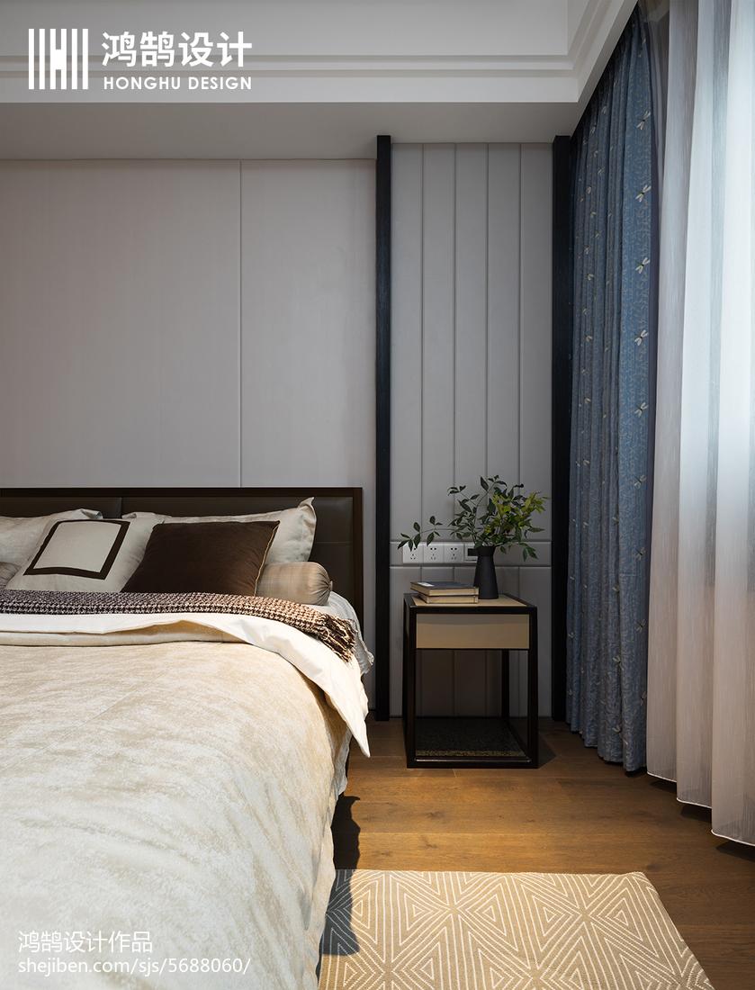 精美94平米三居卧室中式装修欣赏图片