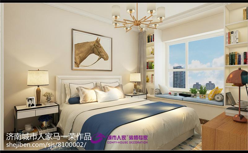 美式风格卧室室内设计装修效果图
