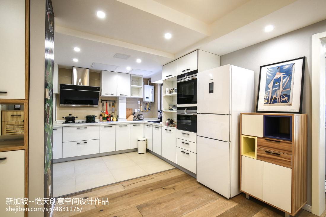 热门面积73平现代二居厨房欣赏图片大全