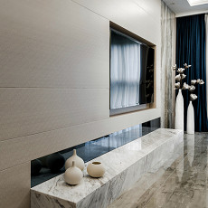 热门72平方二居客厅现代装修实景图片