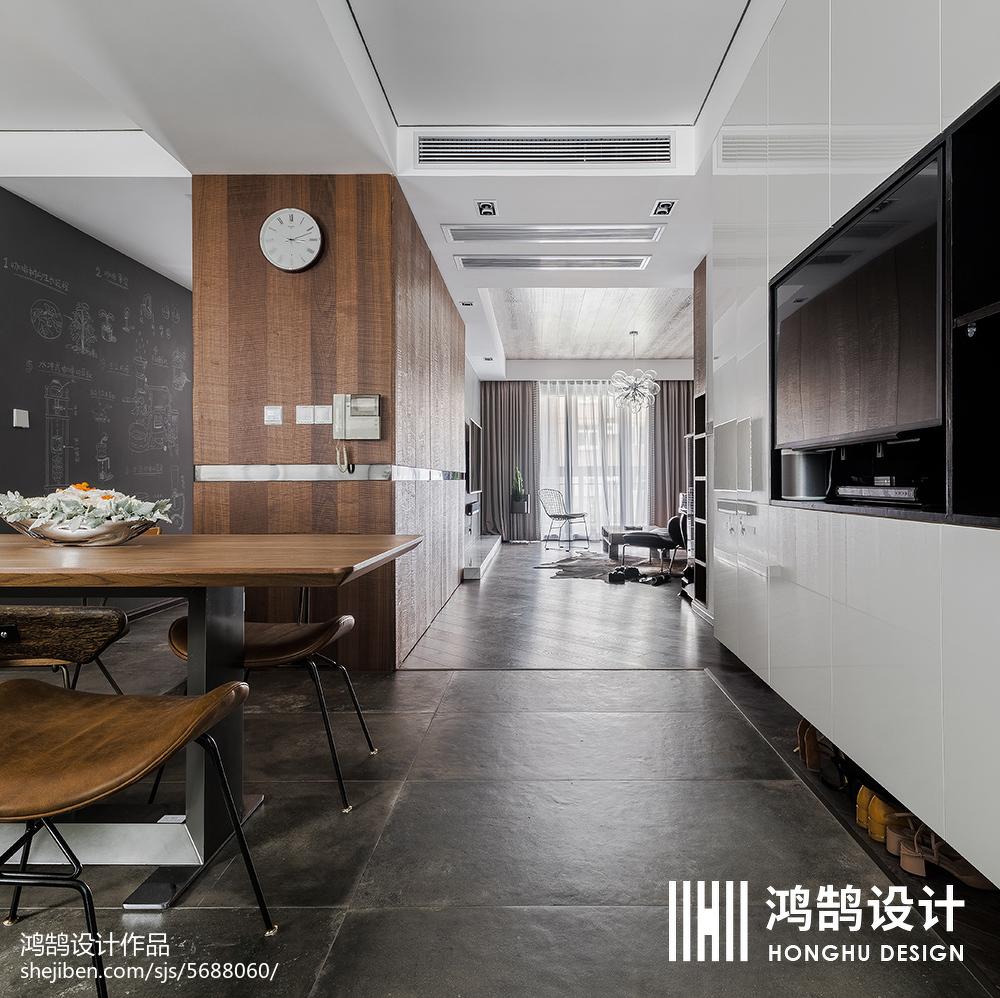 精选面积105平现代三居餐厅装修效果图