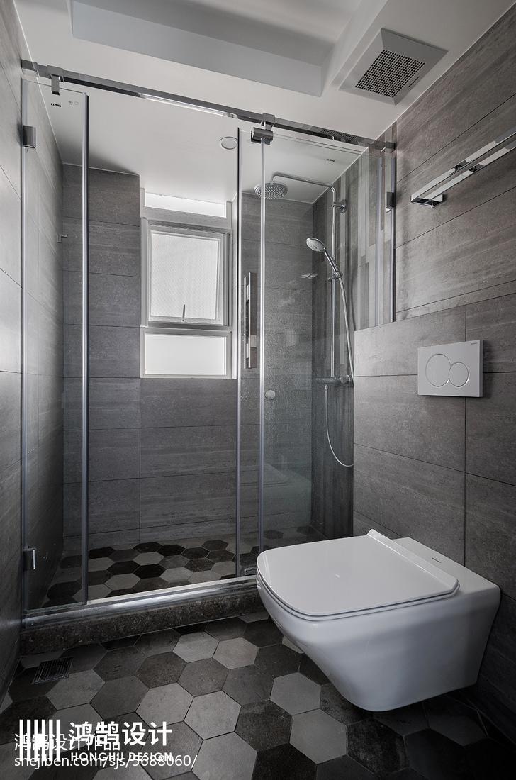 典雅117平现代三居卫生间图片大全