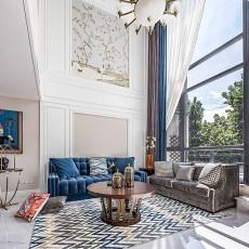 简洁822平美式别墅客厅布置图